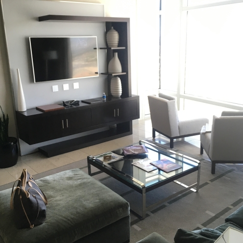 Aria Penthouse living room (Louis Vuitton not included)